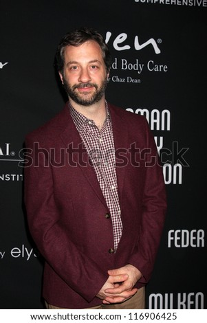 "LOS ANGELES - OCT 26:  Judd Apatow arrives at ""The Pink Party '12"" at Hanger 8 on October 26, 2012 in Santa Monica, CA - stock photo"