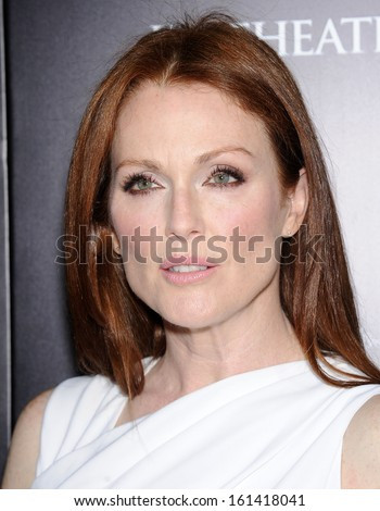 "LOS ANGELES - OCT 07:  Julianne Moore arrives to ""Carrie"" World Premiere  on October 7, 2013 in Hollywood, CA                 - stock photo"