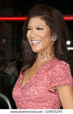 "LOS ANGELES - OCT 30:  Julie Chen  at the ""Seven Psychopaths"" Premiere at Bruin Theater on October 30, 2012 in Westwood, CA - stock photo"