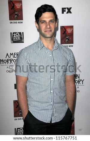 "LOS ANGELES - OCT 13:  Justin Bartha arrives at the ""American Horror Story: Asylum"" Premiere Screening at Paramount Theater on October 13, 2012 in Los Angeles, CA - stock photo"