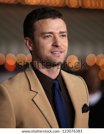 """LOS ANGELES - OCT 20:  Justin Timberlake arriving to """"In Time"""" Los Angeles Premiere  on October 20, 2011 in Westwood, CA - stock photo"""