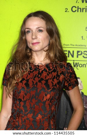 "LOS ANGELES - OCT 30:  Kerry Condon  at the ""Seven Psychopaths"" Premiere at Bruin Theater on October 30, 2012 in Westwood, CA - stock photo"