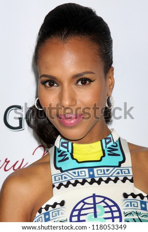"""LOS ANGELES - OCT 29:  Kerry Washington arrives at """"The Details """" Los Angeles Premiere at ArcLight Cinemas on October 29, 2012 in Los Angeles, CA - stock photo"""