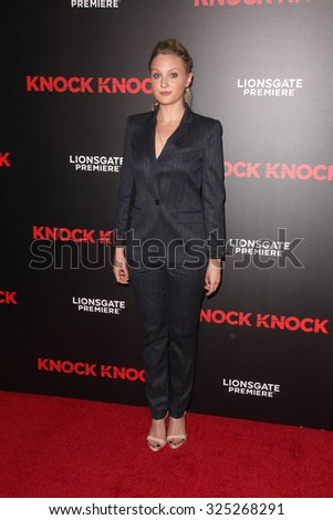 """LOS ANGELES - OCT 7:  Kirby Bliss Blanton at the """"Knock Knock"""" Los Angeles Premiere at the TCL Chinese 6 Theaters on October 7, 2015 in Los Angeles, CA - stock photo"""