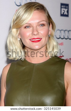 """LOS ANGELES - OCT 7:  Kirsten Dunst at the """"Fargo"""" Season 2 Premiere Screening at the ArcLight Hollywood Theaters on October 7, 2015 in Los Angeles, CA - stock photo"""