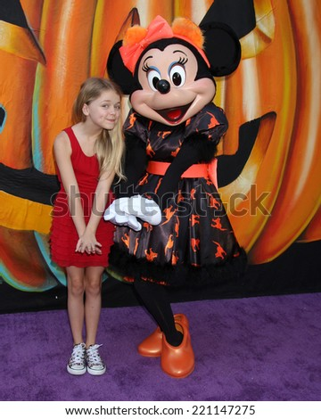 LOS ANGELES - OCT 1:  Kylie Rogers, Minnie Mouse at the VIP Disney Halloween Event at Disney Consumer Product Pop Up Store on October 1, 2014 in Glendale, CA - stock photo