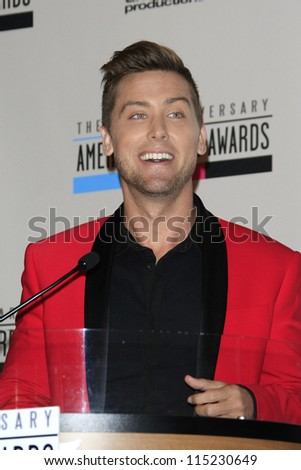 LOS ANGELES - OCT 9: Lance Bass at the 40th Anniversary American Music Awards nominations press conference at the JW Marriott Los Angeles at L.A. LIVE on October 9, 2012 in Los Angeles, California - stock photo
