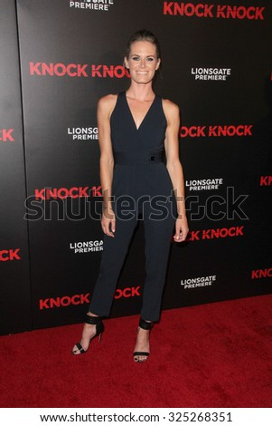 """LOS ANGELES - OCT 7:  Lauren Shaw at the """"Knock Knock"""" Los Angeles Premiere at the TCL Chinese 6 Theaters on October 7, 2015 in Los Angeles, CA - stock photo"""