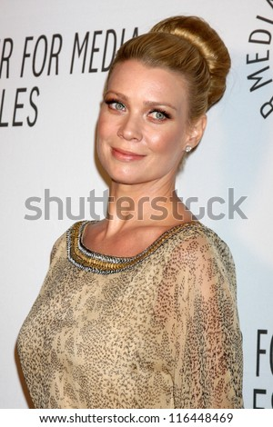 LOS ANGELES - OCT 22:  Laurie Holden arrives at  the Paley Center for Media Annual Los Angeles Benefit at The Lot on October 22, 2012 in Los Angeles, CA