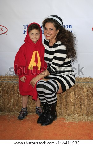 LOS ANGELES - OCT 21: Marissa Jaret Winokur at the Camp Ronald McDonald for Good Times 20th Annual Halloween Carnival at the Universal Studios Backlot on October 21, 2012 in Los Angeles, California - stock photo