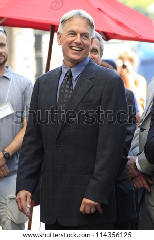 LOS ANGELES - OCT 1: Mark Harmon at a ceremony as Mark Harmon is honored with a star on the Hollywood Walk of Fame on October 1, 2012 in Los Angeles, California - stock photo