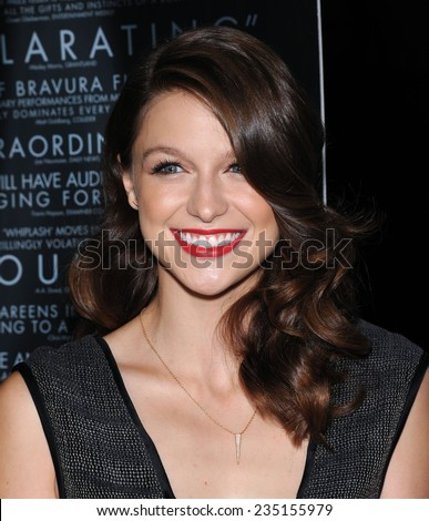 "LOS ANGELES - OCT 06:  Melissa Benoist arrives to the ""Whiplash"" Los Angeles Premiere on October 6, 2014 in Los Angeles, CA                 - stock photo"