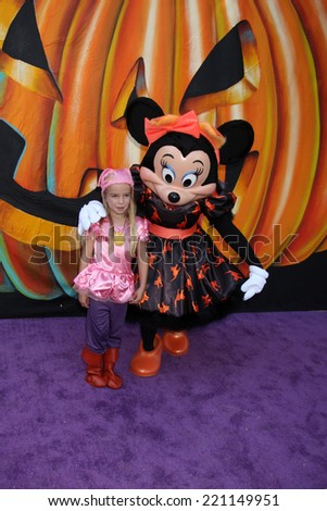 LOS ANGELES - OCT 1:  Mia Talerico, Minnie Mouse at the VIP Disney Halloween Event at Disney Consumer Product Pop Up Store on October 1, 2014 in Glendale, CA - stock photo