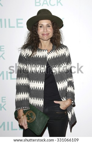 "LOS ANGELES - OCT 21:  Minnie Driver at the ""I Smile Back"" Special Screening at the ArcLight Hollywood Theaters on October 21, 2015 in Los Angeles, CA - stock photo"