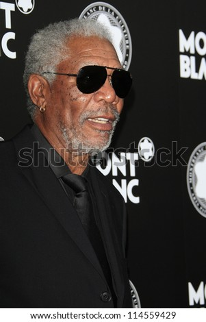 LOS ANGELES - OCT 2:  Morgan Freeman arrives at the 2012 Montblanc De La Culture Arts Gala at Chateau Marmont on October 2, 2012 in Los Angeles, CA