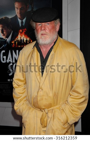 LOS ANGELES - OCT 4:  Nick Nolte arrives at the Gangster Squad World Premiere  on January 7, 2013 in Hollywood, CA              - stock photo