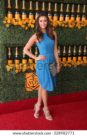 LOS ANGELES - OCT 17:  Nina Dobrev at the Sixth-Annual Veuve Clicquot Polo Classic at the Will Rogers State Historic Park on October 17, 2015 in acific Palisades, CA - stock photo