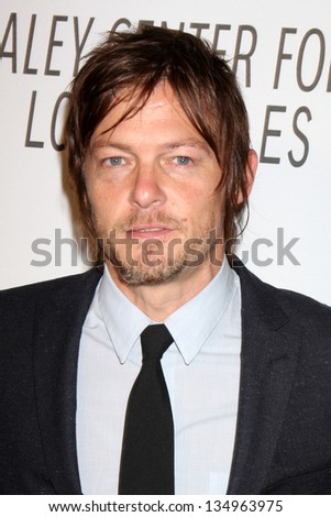 LOS ANGELES - OCT 22:  Norman Reedus arrives at  the Paley Center for Media Annual Los Angeles Benefit at The Lot on October 22, 2012 in Los Angeles, CA