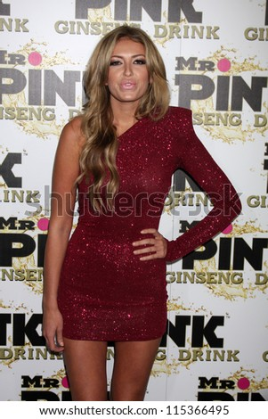 "LOS ANGELES - OCT 11:  Paulina Gretzky arrives at the ""Mr. Pink"" Energy Drink Launch at Beverly Wilshire Hotel on October 11, 2012 in Beverly Hills, CA - stock photo"