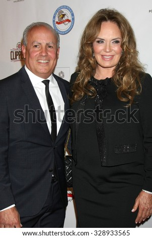 LOS ANGELES - OCT 17:  Peter R Repovich, Catherine Bach at the  LAPD Eagle & Badge Foundation Gala at the Century Plaza Hotel on October 17, 2015 in Century City, CA