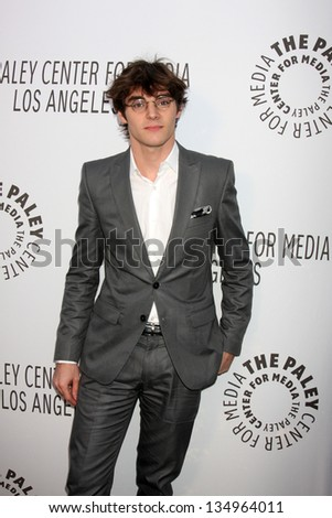 LOS ANGELES - OCT 22:  RJ Mitte arrives at  the Paley Center for Media Annual Los Angeles Benefit at The Lot on October 22, 2012 in Los Angeles, CA