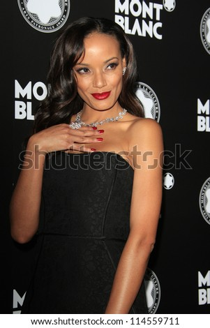 LOS ANGELES - OCT 2:  Selita Ebanks arrives at the 2012 Montblanc De La Culture Arts Gala at Chateau Marmont on October 2, 2012 in Los Angeles, CA - stock photo