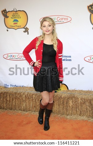 LOS ANGELES - OCT 21: Stefanie Scott at the Camp Ronald McDonald for Good Times 20th Annual Halloween Carnival at the Universal Studios Backlot on October 21, 2012 in Los Angeles, California - stock photo