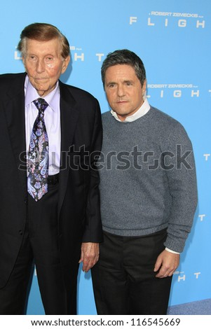 LOS ANGELES - OCT 23: Sumner Redstone, Brad Gray at the Premiere of Paramount Pictures' 'Flight' at ArcLight Cinemas on October 23, 2012 in Los Angeles, California