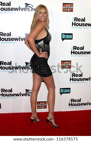 "LOS ANGELES - OCT 21:  Susan Holmes arrives at  ""The Real Housewives of Beverly Hills"" Season three premiere red carpet event at Roosevelt Hotel on October 21, 2012 in Los Angeles, CA - stock photo"