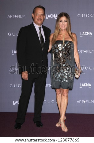 LOS ANGELES - OCT 27:  Tom Hanks & Rita Wilson arrives to the LACMA hosts 2012 Art + Film Gala  on October 27, 2012 in Los Angeles, CA