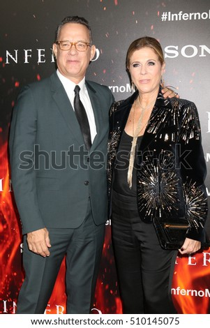 "LOS ANGELES - OCT 25:  Tom Hanks, Rita Wilson at the ""Inferno"" Special Screening at Directors Guild of America on October 25, 2016 in Los Angeles, CA"