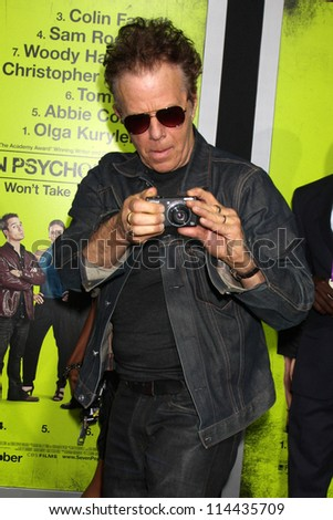 "LOS ANGELES - OCT 30:  Tom Waits  at the ""Seven Psychopaths"" Premiere at Bruin Theater on October 30, 2012 in Westwood, CA - stock photo"