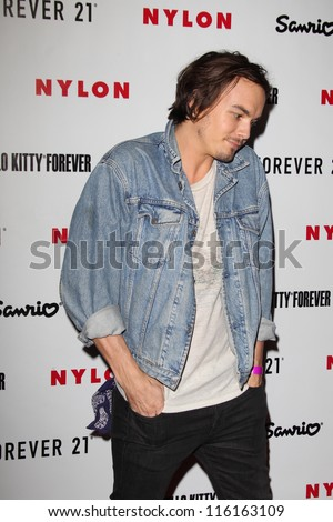 LOS ANGELES - OCT 15:  Tyler Blackburn arrives at  Nylon's October IT Issue party at London West Hollywood on October 15, 2012 in Los Angeles, CA - stock photo