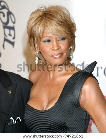 LOS ANGELES - OCT 26:  Whitney Houston arrives at the Carousel of Hope Ball at Beverly Hilton Hotel on October 26, 2006 in Beverly Hills, CA - stock photo