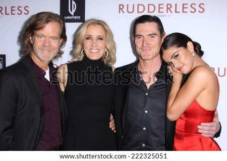 "LOS ANGELES - OCT 7:  William H. Macy, Felicity Huffman, Billy Crudup, Selena Gomez at the ""Rudderless"" Premiere at Vista Theater on October 7, 2014 in Los Angeles, CA - stock photo"