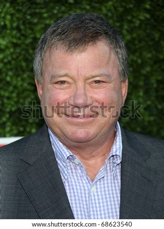 LOS ANGELES - OCT 11:  William Shatner arrives to the Summer Press Tour 2010-CBS CW Showtime on October 11, 2010 in Beverly Hills, CA - stock photo