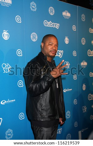 LOS ANGELES - OCT 20:  Xzibit arrives at  the Qubeeys Chris Brown Channel Launch Event at Private Residence on October 20, 2012 in Beverly Hills, CA - stock photo