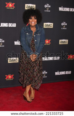 "LOS ANGELES - OCT 2:  Yvette Nicole Freeman at the ""The Walking Dead"" Season 5 Premiere at Universal City Walk on October 2, 2014 in Los Angeles, CA - stock photo"