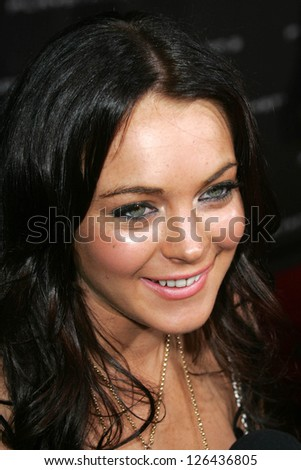 LOS ANGELES - OCTOBER 08: Lindsay Lohan at the Playstation 3 Launch Party October 08, 2006 in 9900 Wilshire Blvd, Beverly Hills, CA. - stock photo