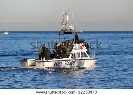 Los Angeles Port Police - stock photo