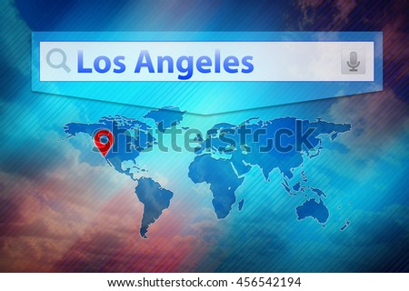 Los Angeles Search Result Location Los Stock Illustration 456542194
