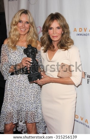 LOS ANGELES - SEP 9:  Alana Stewart, Jaclyn Smith at the Farrah Fawcett Foundation Fiesta at the Wallis Annenberg Center on September 9, 2015 in Beverly Hills, CA - stock photo