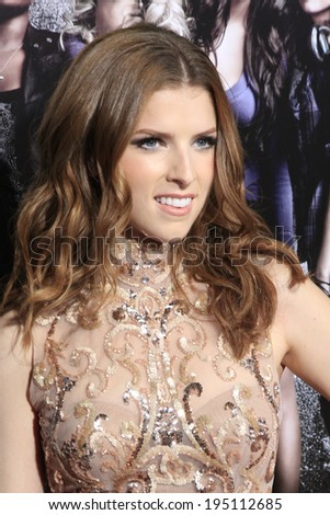 """LOS ANGELES - SEP 24:  Anna Kendrick arrives at the """"Pitch Perfect'"""" Premiere at ArcLight Cinemas on September 24, 2012 in Los Angeles, CA - stock photo"""
