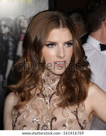 """LOS ANGELES - SEP 24:  Anna Kendrick arrives to the """"Pitch Perfect"""" World Premiere  on Sep 24, 2012 in Hollywood, CA                 - stock photo"""