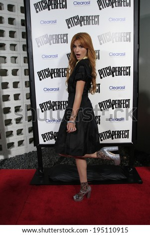 """LOS ANGELES - SEP 24:  Bella Thorne arrives at the """"Pitch Perfect'"""" Premiere at ArcLight Cinemas on September 24, 2012 in Los Angeles, CA - stock photo"""