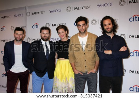 LOS ANGELES - SEP 9:  Brent Morin, David Fynn, Bianca Kajlich, Rick Glassman, Chris D'Elia at the PaleyFest 2015 Fall TV Preview at the Paley Center For Media on September 9, 2015 in Beverly Hills, CA