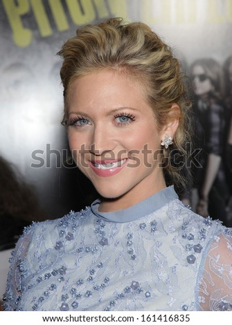 """LOS ANGELES - SEP 24:  Brittany Snow arrives to the """"Pitch Perfect"""" World Premiere  on Sep 24, 2012 in Hollywood, CA                 - stock photo"""