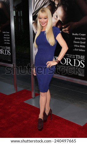 "LOS ANGELES - SEP 12:  Charlotte Ross arrives to the ""The Words"" Premiere  on September 12, 2012 in Hollywood, CA                 - stock photo"