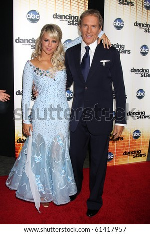 LOS ANGELES - SEP 20:  Chelsea Hightower & Michael Bolton at the Season 11 Premiere of Dancing with the Stars at CBS Television CIty  on September 20, 2010 in Los Angeles, CA - stock photo