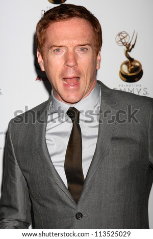 LOS ANGELES - SEP 21:  Damian Lewis arrives at the Primetime Emmys Performers Nominee Reception at Spectra by Wolfgang Puck on September 21, 2012 in Los Angeles, CA - stock photo